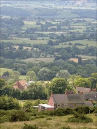 Views of Clee Hill in Worcestershire