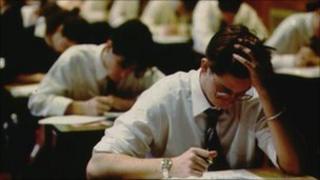 pupil in exam