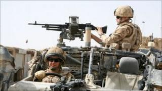 British troops on patrol in Helmand province