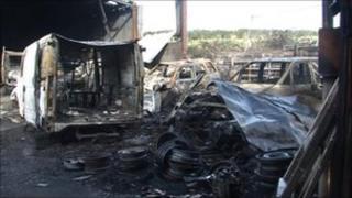 St Mark's farm fire damage