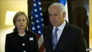 Hillary Clinton and Benjamin Netanyahu in Washington, 31 August 2010