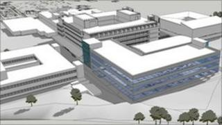 Artist's impression of the new extension