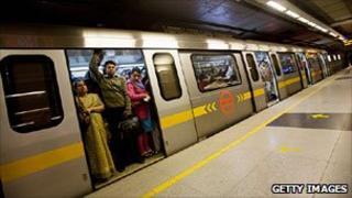 Delhi metro railway