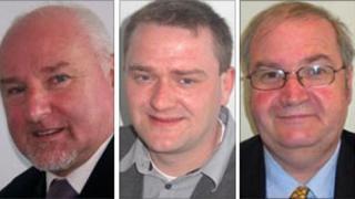 Bob Bryant, Chris Carlin and Peter Blackmore