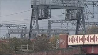 Railway line in Leeds