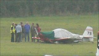 The Vans RV-4 light aircraft which landed safely