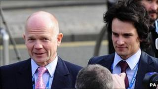 William Hague and his former special adviser Christopher Myers in October 2009