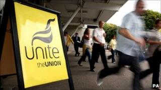 Unite union meeting at Kempton Park racecourse