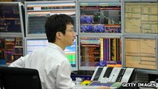 Currency trader in Korea