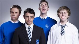 Joe Thomas, Simon Bird, Blake Harrison and James Buckley