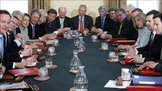First meeting of the coalition cabinet in May
