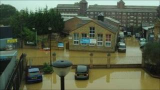 Flood in Brentford