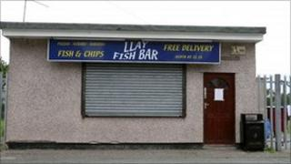 Llay Fish Bar, Llay, Wrexham, which now operates under new ownership and a different name