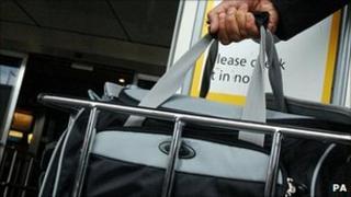 Hand luggage gauge