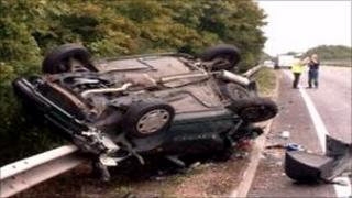 The Clio after the crash