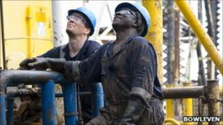 Pic of oil rig drilling off Cameroon