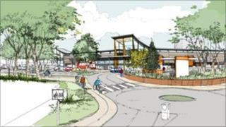 Artist's impression of the new store
