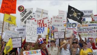 Tea Party protesters in Arizona