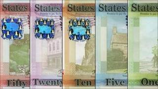 States of Jersey bank notes