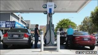 Petrol station in San Rafael, California