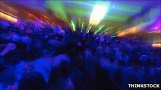Rave stock photo