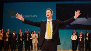Nick Clegg at the 2009 Lib Dem conference