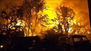 Fire at the scrapyard