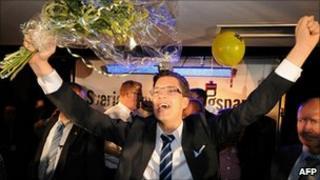 Sweden Democrats leader Jimmie Akesson. 10 Sept 2010