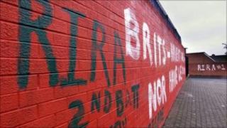 Dissident republican graffiti