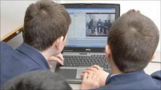 Pupils at the Paddington Academy in London