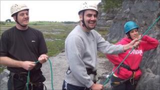 [L-R]: Dan King, Nathan Cheng, Emily Brennan of Headway Cardiff