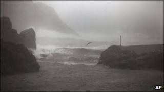 Bad weather on Canadian coast