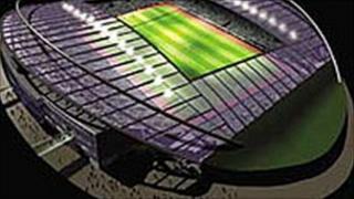 Artist's impression of the planned football stadium