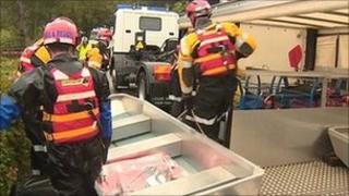 emergency crews in Aberdeen