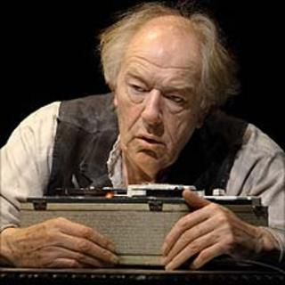 Sir Michael Gambon in Krapp's Last Tape (photo by Anthony Woods)