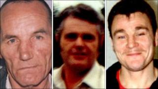 Trevor Bradley, Brian Coles and Bernard Czyzewska (left to right - images from West Mercia Police)