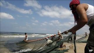 Fishermen in Gaza. 21 Sept 2010