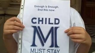 Child M protest