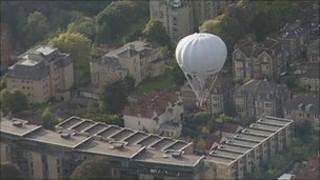Gas balloon over Bristol earlier in the week