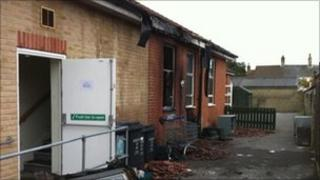 Fire damage at the Salvation Army in Swindon