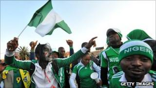 Nigeria fans at the World Cup
