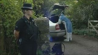 Death scene at Stoke Climsland