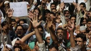 JKLF supporters in Indian-administered Kashmir