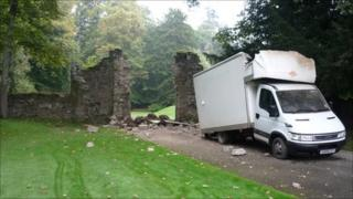 16th century arch debris. Pic by James Cook