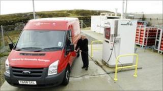 Hydrogen-powered Royal Mail van