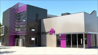 Artist's impression of the SmartLIFE Low Carbon Centre
