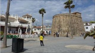 A town on the Costa del Sol