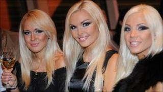 The girl group Olialia Babes, part of the Lithuanian blonde project