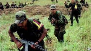 Farc members in training (archive photo)
