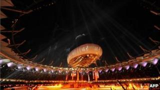 Opening ceremony, Commonwealth Games, Delhi - 3 Oct 2010